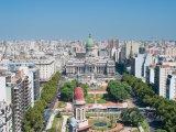 Buenos Aires, panoráma města, veprostřed budova Národního kongre