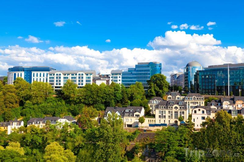 Fotka, Foto Centrum Lucemburku - moderní čtvrť (Lucembursko)