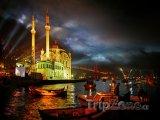 Istanbulský přístav v noci