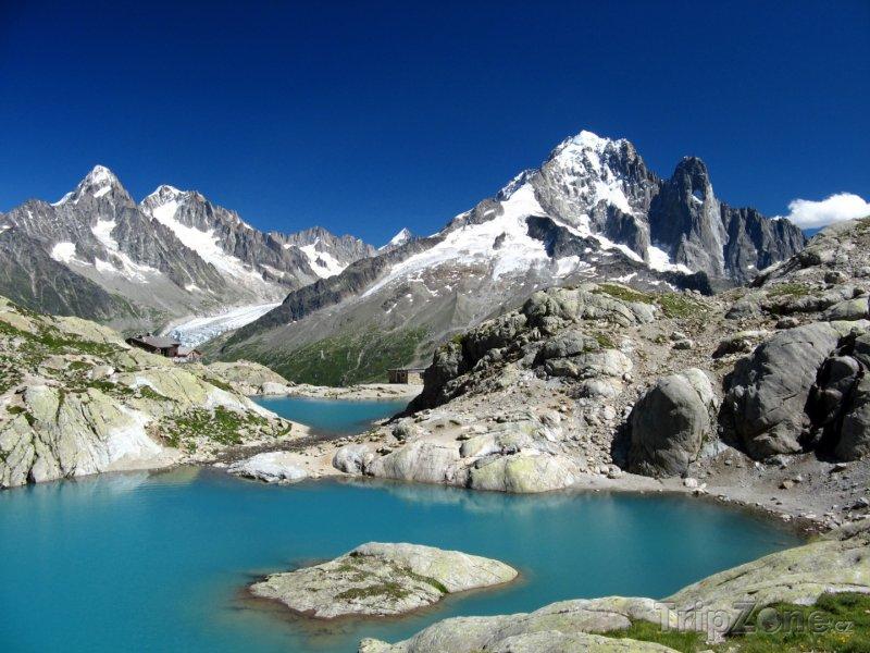 Fotka, Foto Jezero Lac Blanc u Chamonix (Francouzské Alpy, Francie)