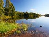 Jezero Soodla v létě