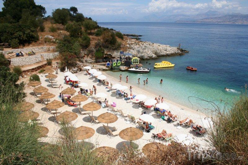 Fotka, Foto Kassiopi, pláž (Korfu, Řecko)