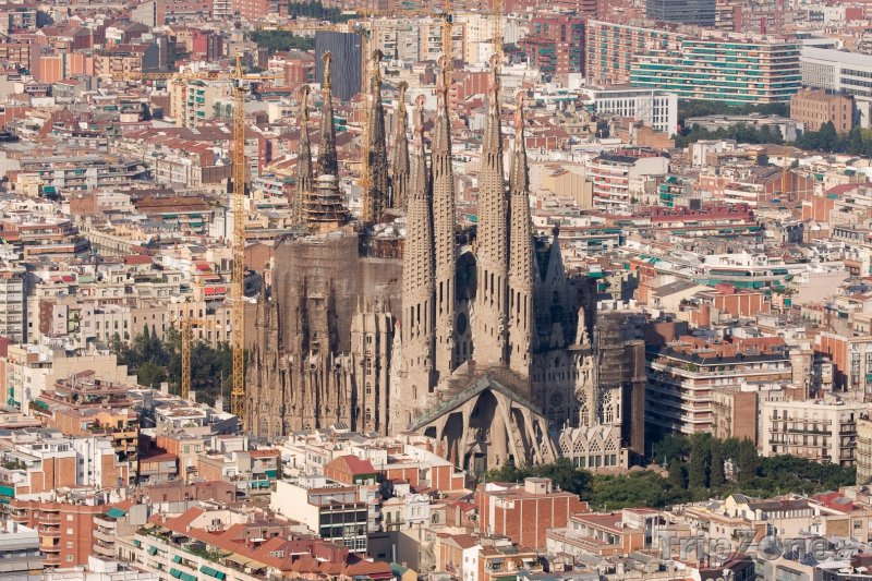 Fotka, Foto Katedrála Sagrada Familia v Barceloně (Španělsko)
