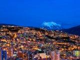 La Paz, město v noci