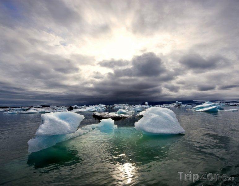 Fotka, Foto Ledovcové jezero Jokulsarlon (Island)