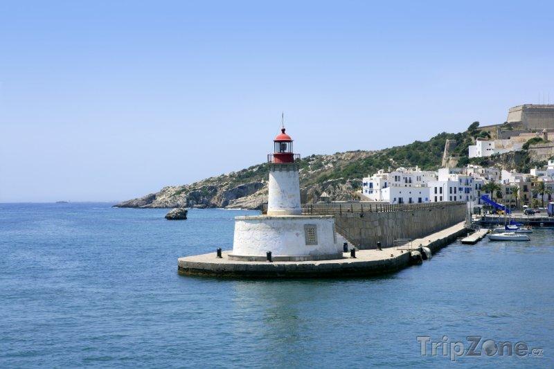 Fotka, Foto Maják v přístavu (Ibiza, Španělsko)