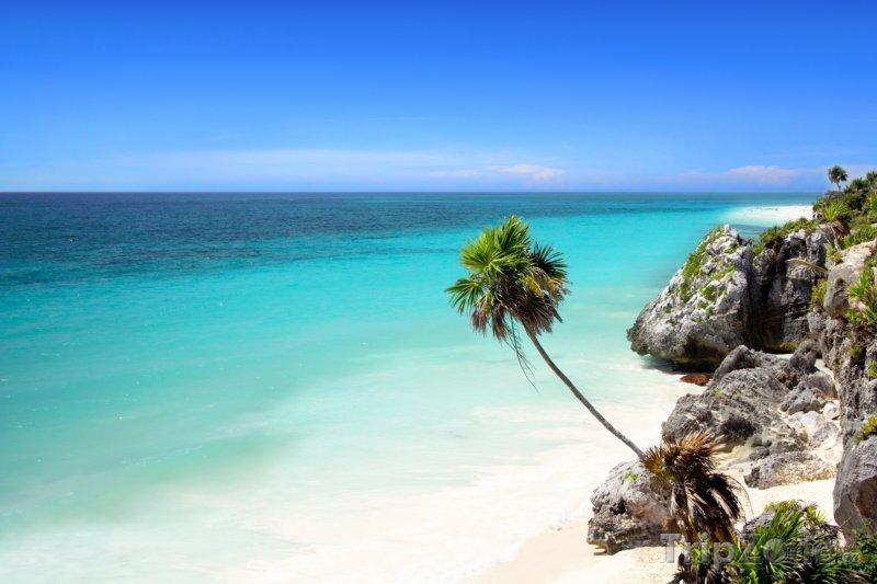 Fotka, Foto Mayan Riviera, oblast Tulum, pláž (Mexiko)