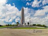Monument José Martího na náměstí Revolution Square v Havaně