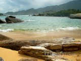 Národní park Tayrona, kameny na pobřeží