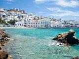Ostrov Mykonos, pobřeží stejnojmenného města