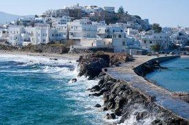 Ostrov Naxos, pohled na město Naxos
