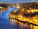 Osvětlené město Porto