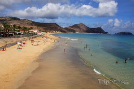 Pláž na ostrově Porto Santo