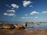 Pobřeží Baltského moře poblíž Rigy