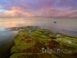 Podvečerní pohled na hladinu Baltského moře