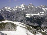 Pohled na Albánské alpy