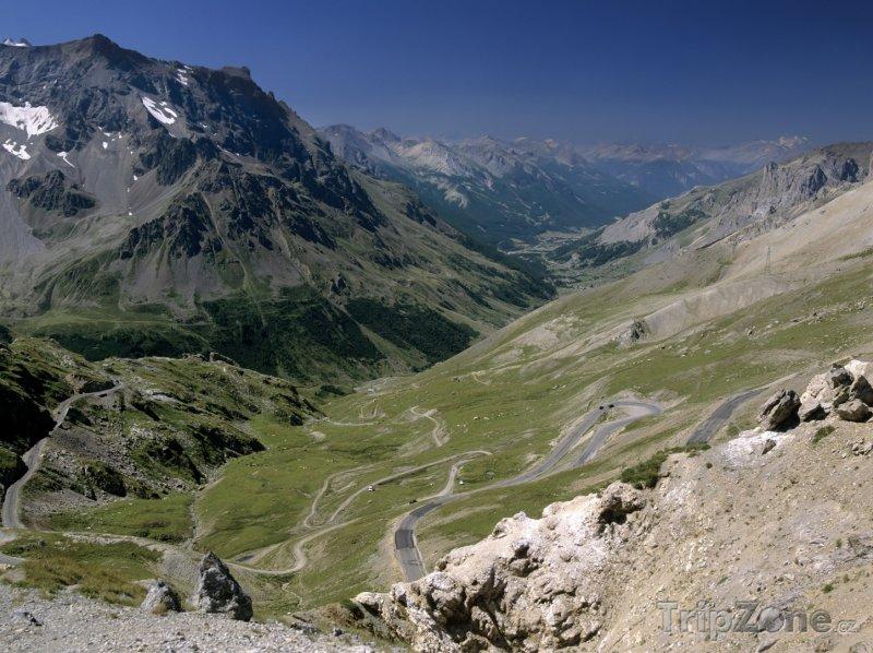 Fotka, Foto Pohled na Savojské Alpy z Col du Galibier (Francouzské Alpy, Francie)