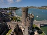 Pohled z hradu Conwy v severním Walesu