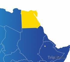 Poloha Egypta na mapě Afriky