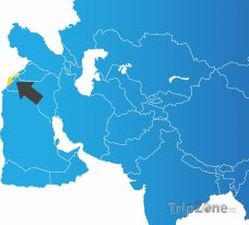 Poloha Izraele na mapě Asie