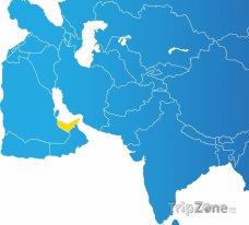 Poloha Spojených arabských emirátů na mapě Asie