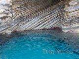 Skalní útvar při pobřeží Korfu