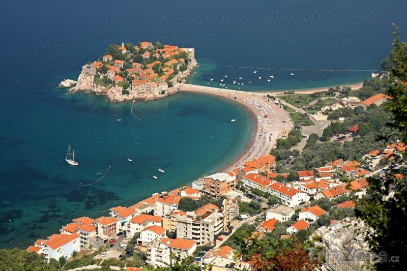 Fotka, Foto Sveti Stefan, pohled z výšky (Černá Hora)