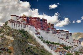 Tibet, město Lhasa, palác Potála