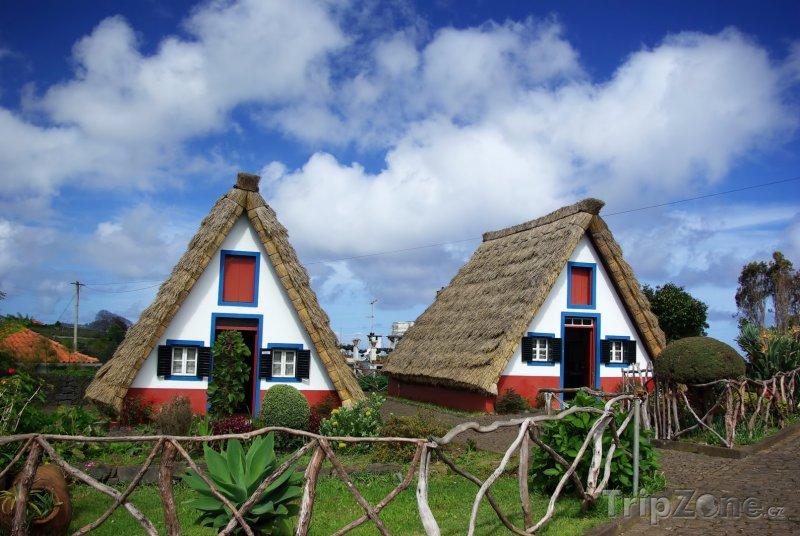 Fotka, Foto Tradiční domky na Madeiře (Madeira, Portugalsko)