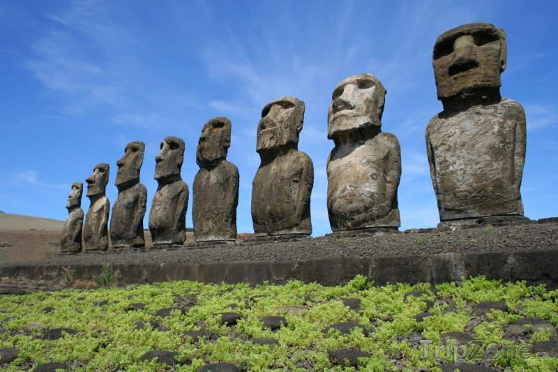 Fotka, Foto Velikonoční ostrov, sochy moai (Chile)