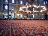 Vnitřek Modré mešity v Istanbulu