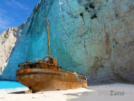 Vrak lodi na pláži Navagio