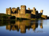 Wales - hrad Caerphilly