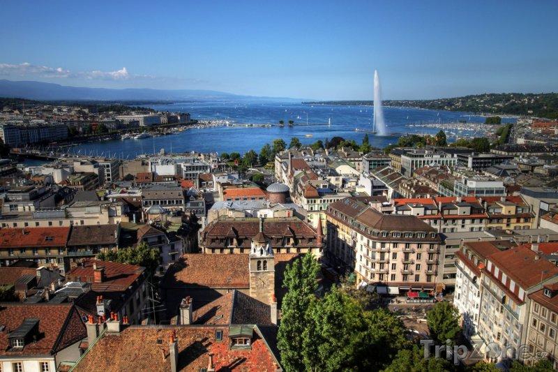 Fotka, Foto Ženevské panorama (Švýcarsko)