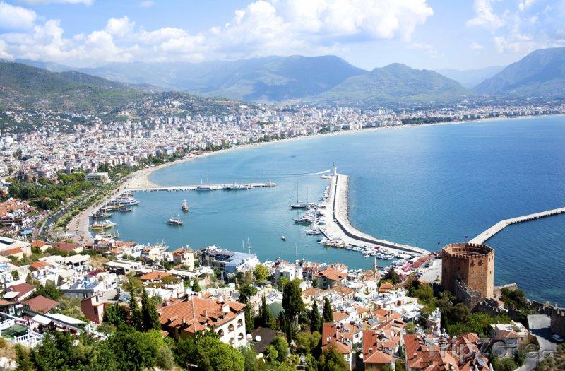 Fotka, Foto Alanya, panoráma pobřeží (Turecká riviéra, Turecko)