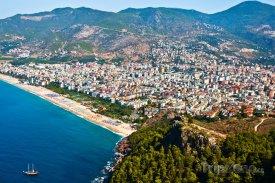 Alanya - pohled na město z výšky