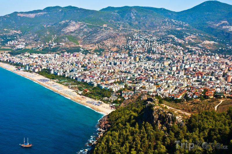 Fotka, Foto Alanya - pohled na město z výšky (Turecko)