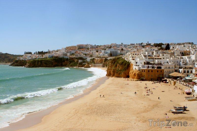 Fotka, Foto Algarve, pláž ve městě Albufeira (Portugalsko)