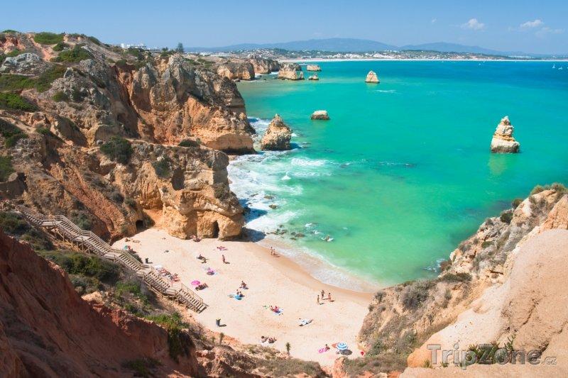 Fotka, Foto Algarve, pláž ve městě Lagos (Portugalsko)