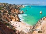 Algarve, pláž ve městě Lagos