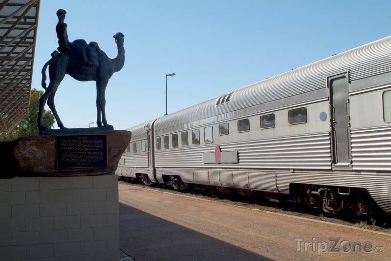 Fotka, Foto Alice Springs - vlakové nádraží (Austrálie)