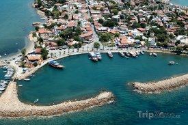 Antalya, pobřeží z ptačí perspektivy