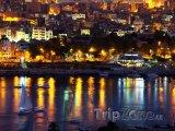 Asuán - město v noci