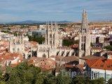 Burgos, panoráma města, katedrála