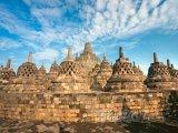 Chrámový komplex Borobudur ve městě Magelang na Střední Jávě