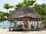 Chýše na pláži na ostrově Savaii