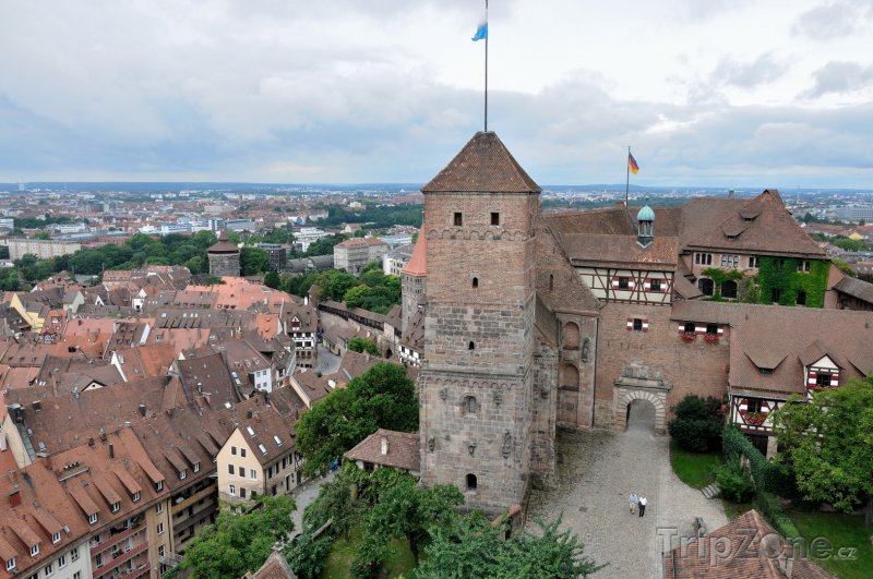 Fotka, Foto Císařský hrad a panorama města Norimberk (Norimberk, Německo)