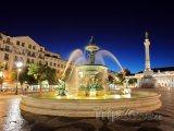 Fontána na lisabonském náměstí Rossio