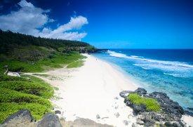 Impozantní pláž Gris Gris na jihu ostrova