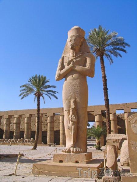 Fotka, Foto Karnak - socha Ramesse II. (Egypt)